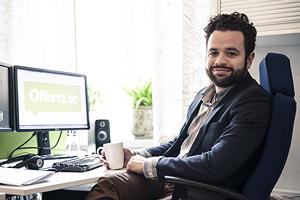Viktor Bergmark-Jimenez, ansvarig chef på Offerta.