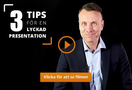 Jesper på Framfot ger tre tips för bättre presentationsteknik.